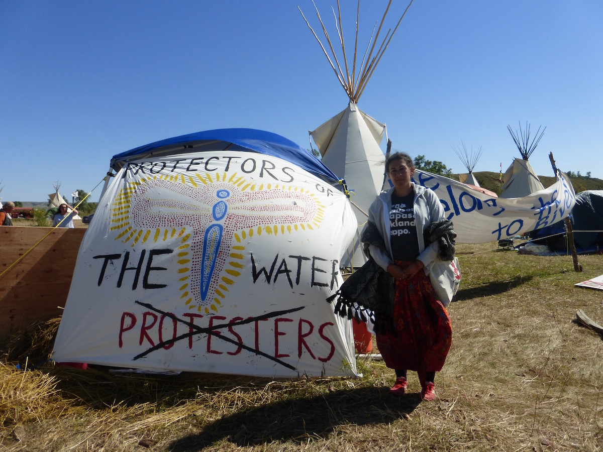 The author outside of Red Warrior Camp #protectorsnotprotestors